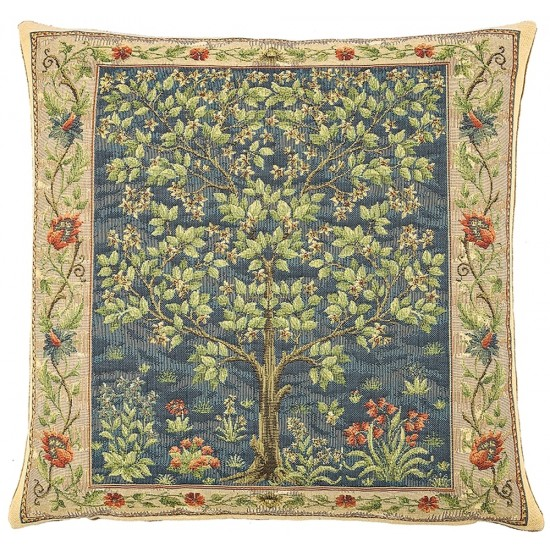 Tree of Life - Blue Pillow Cover