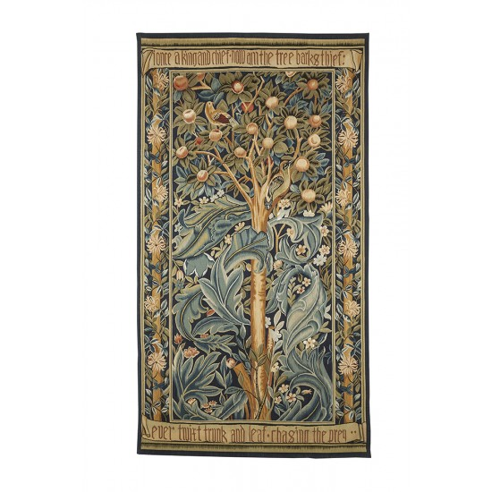 The Woodpecker Tapestry Handwoven Tapestry