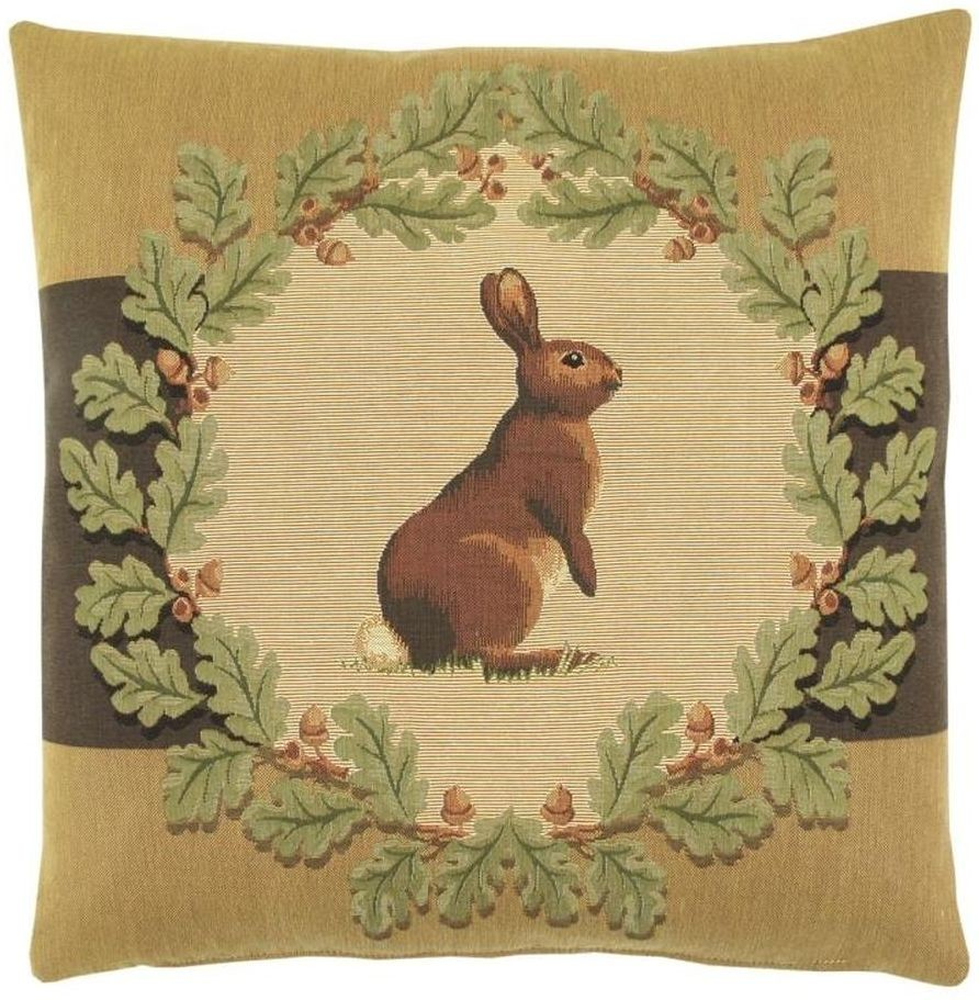 Hare & Oakleaves Pillow Cover Tapestry Fabric Wall Hangings Custom ...