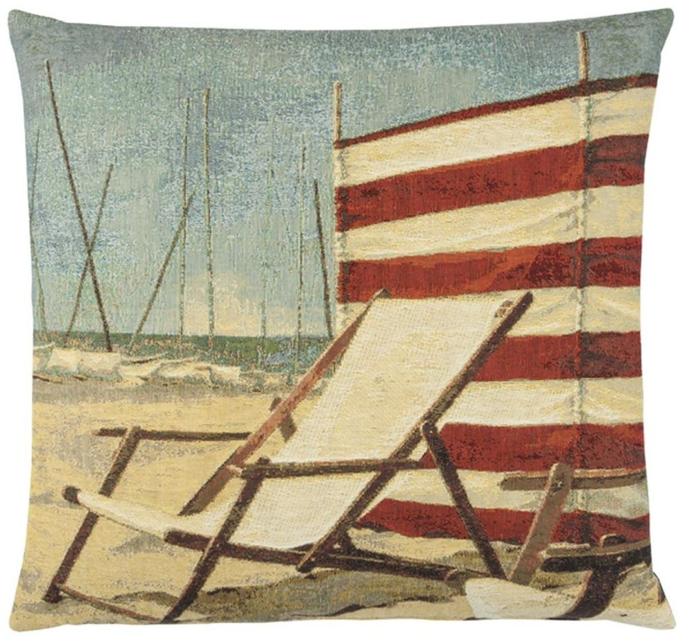Beach Deck Chair Pillow Cover