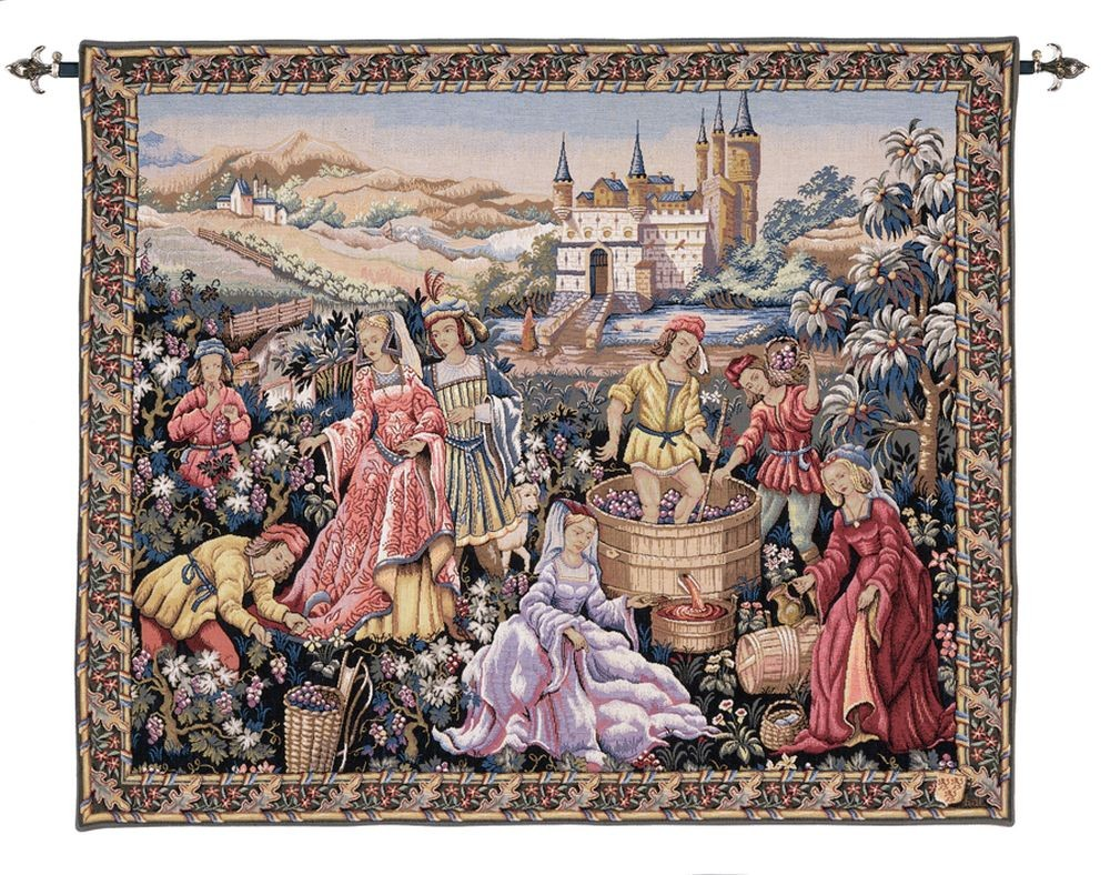 Vendanges Au Chteau Tapestry