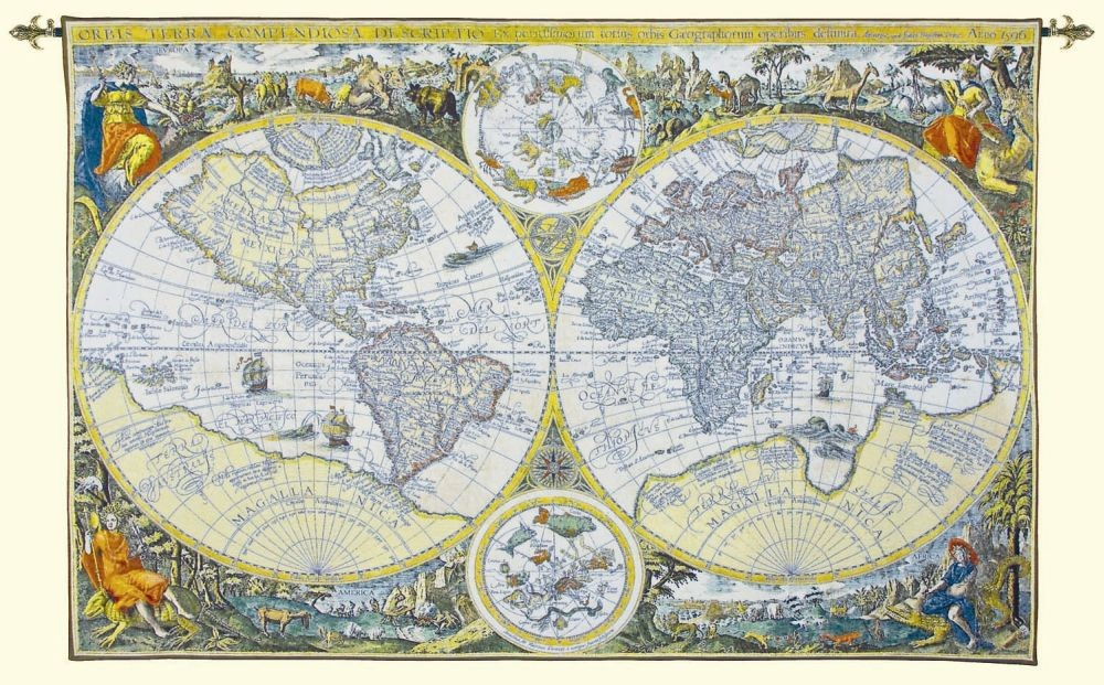 Olde world map tapestry tapestry fabric wall hangings custom tapestries olde world map tapestry gumiabroncs Image collections