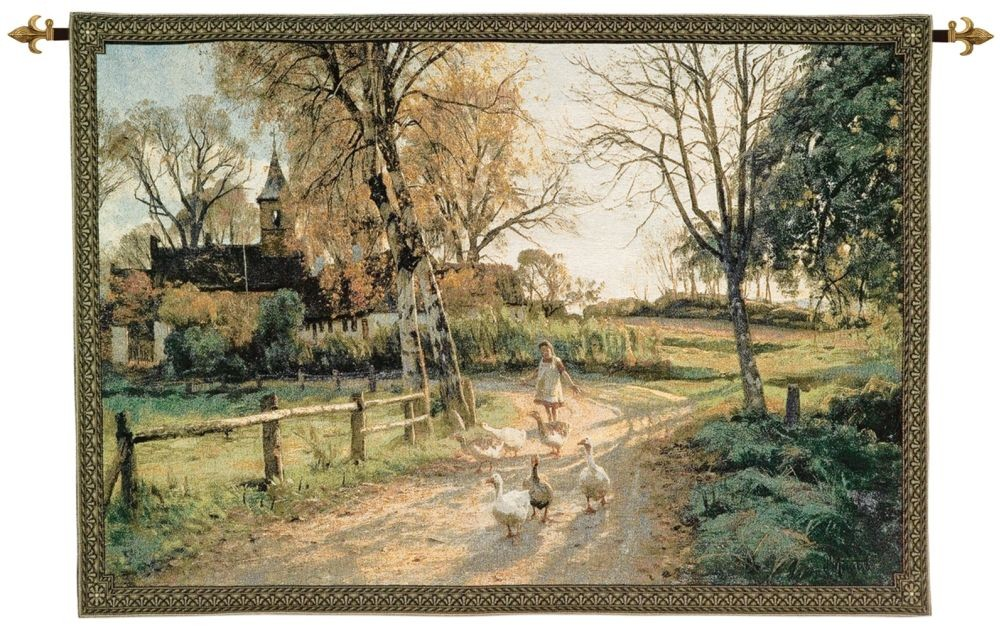 The Goose Girl Woven Art Tapestry Tapestry Fabric Wall Hangings ...