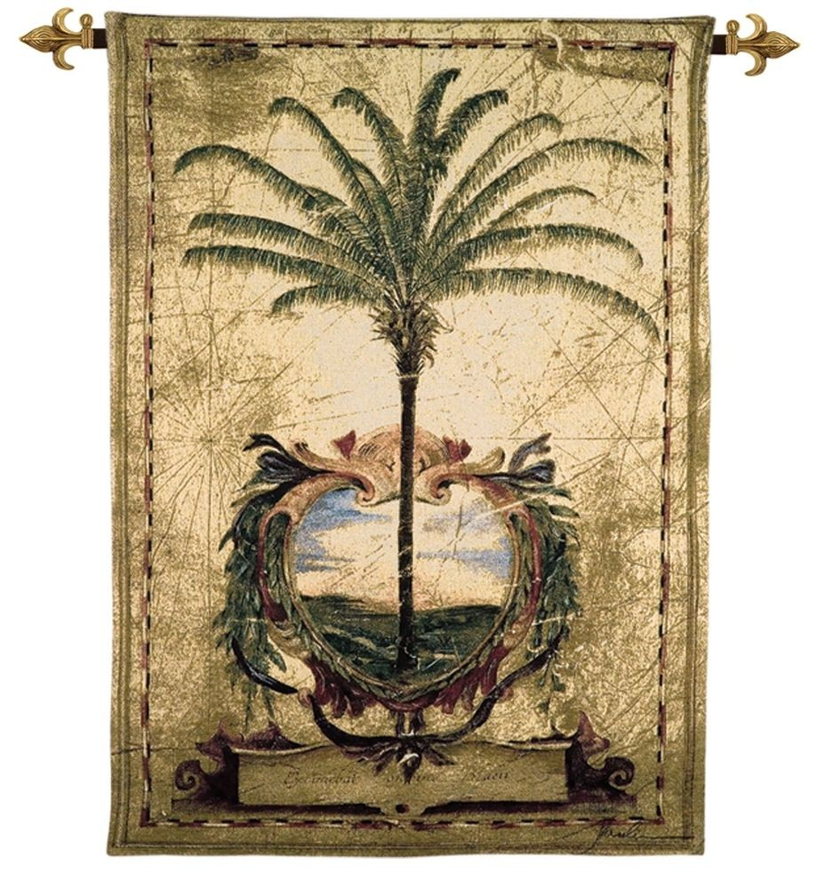 Sunset Palm Woven Art Tapestry Tapestry Fabric Wall Hangings Custom ...