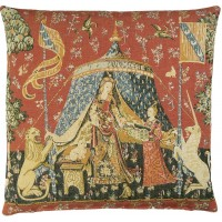 Lady with Unicorn - Tent Pillow Cover