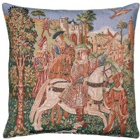 Departure for the Hunt Pillow Cover