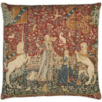 Lady with Unicorn - Taste Pillow Cover