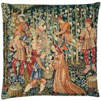 Grape-Gathering Pillow Cover