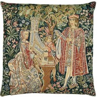 Lady at the Organ Pillow Cover