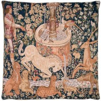 Unicorn at the Fountain Pillow Cover