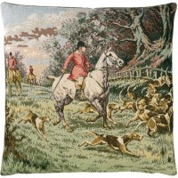 Horse & Hounds Pillow Cover