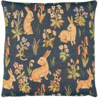 Mille-Fleurs Rabbits Pillow Cover