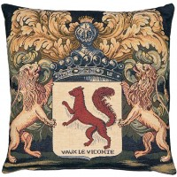 Arms of Vaux-le-Vicomte Pillow Cover