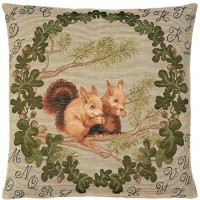 Alphabet Squirrels Pillow Cover