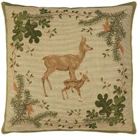 Deer & Fawn Pillow Cover