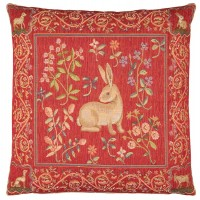 Medieval Rabbit Pillow Cover
