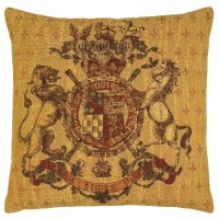 Armorial-Chenille Pillow Cover