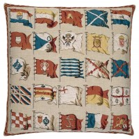 Flags-Cream Pillow Cover