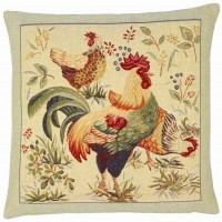 Country Hens I Pillow Cover