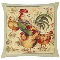 Country Hens II Pillow Cover