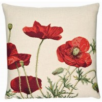 Wild Poppies Pillow Cover