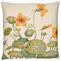 Wild Nasturtium Pillow Cover