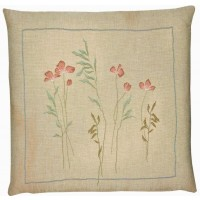 Meadow Flowers I Pillow Cover