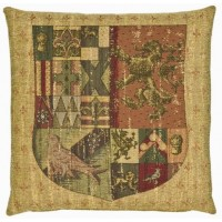 Knight's Shield (chenille) Pillow Cover