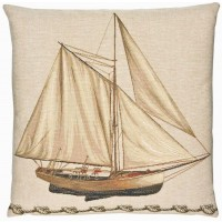 Sailing Boat Pillow Cover