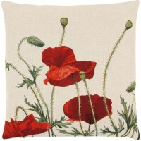 Wild Poppies II Pillow Cover