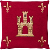 Castle - Red (Chenille) Pillow Cover