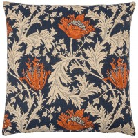 Morris - Anemone Blue Rust Pillow Cover