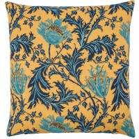 Morris - Anemone Gold Blue  Pillow Cover