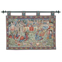 Joust at Camelot Tapestry (With Loops)