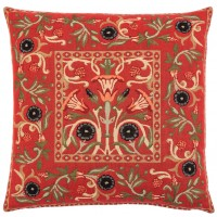 Primrose - Red Pillow Cover