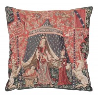 Lady & Unicorn - Tent Pillow Cover