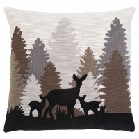 Silhouette Deer Pillow Cover