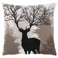 Silhouette Stag Pillow Cover
