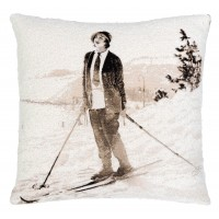 Vintage Skiing II Pillow Cover