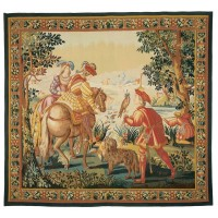 Les Fauconniers Handwoven Tapestry