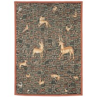 Mille-Fleurs Animaux (Thousand Flowers Animals) Handwoven Tapestry