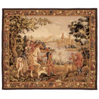 The Noble Outing Handwoven Tapestry