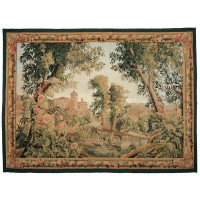 Verdure au Oiseau Royal Handwoven Tapestry (Greenery with Royal Bird)