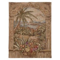 Palms & Fruit Handwoven Tapestry