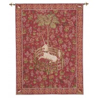 Licorne Captive - Rouge Tapestry