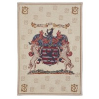 Arte et Marte Coat of Arms Tapestry