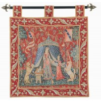 Lady with Tent Tapestry