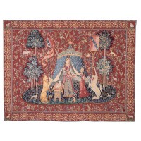 Lady with Unicorn - Tent Tapestry