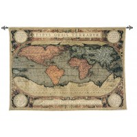 Typus Orbis Terrarum (Map of the Known World) Tapestry