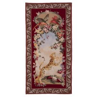 Cheetah Portiere I Needlepoint Tapestry